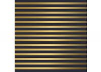 Weihnachtspapier  Trendy STRIPES DARKBLUE/GOLD